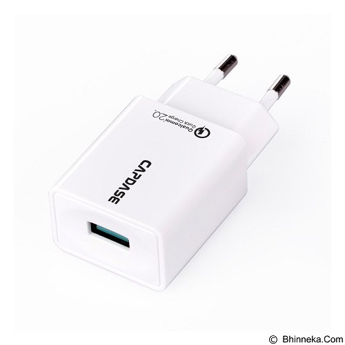 CAPDASE Wall Charger Quick Charger 2 USB Raptor [AD00-D021-EU] - White (Merchant) - Charger Handphone