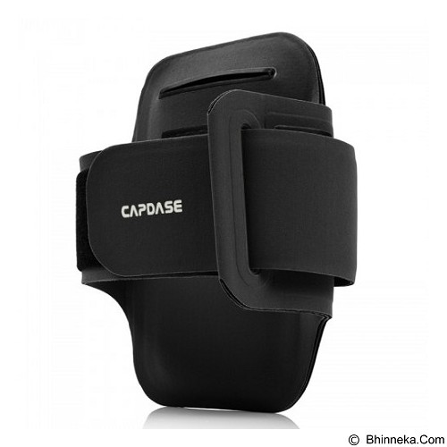 CAPDASE Zonic Plus 126A Sports Armband [AB00P126A-1301] - Black - Arm Band / Wrist Strap Handphone