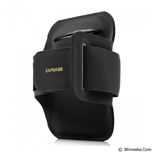 CAPDASE Zonic Plus 145A Sports Armband [AB00P145A-131E] - Black Yellow - Arm Band / Wrist Strap Handphone