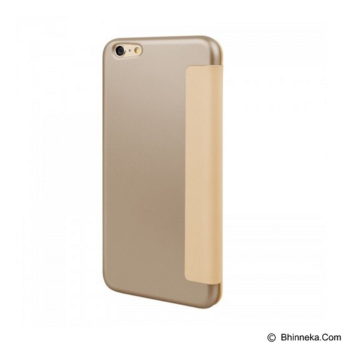 CAPDASE Posh Flip Cover Casing for iPhone 6 Plus/6S Plus [FCIH6PS-PLCB] - Gold (Merchant) - Casing Handphone / Case
