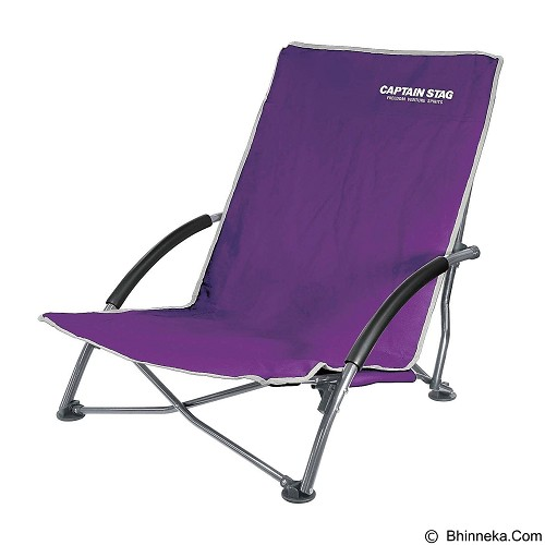 CAPTAIN STAG Folding Low Style Chair - Purple (Merchant) - Outdoor Compact Chair