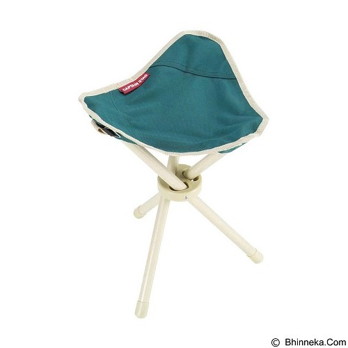 CAPTAIN STAG Folding Tripod Chair - Green (Merchant) - Outdoor Compact Chair