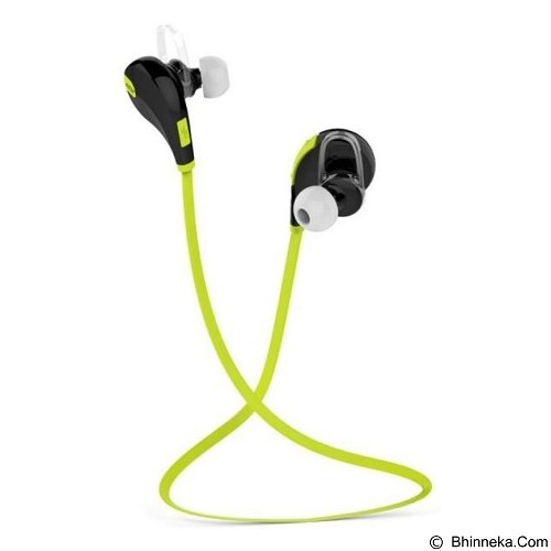 CASHONIT Mini Gym Sport Bluetooth Earphone with Microphone QY7 [CSI-OMSK2FBK] - Green - Headset Bluetooth