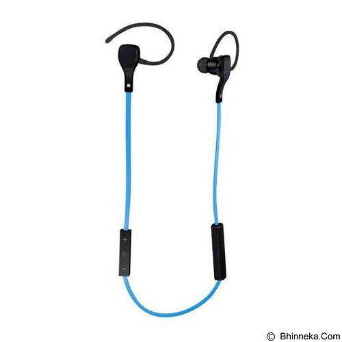 CASHONIT Sport Bluetooth Earphone with Microphone BTH06 [CSI-OMSK3ABL] - Blue - Headset Bluetooth