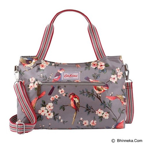 CATH KIDSTON British Birds Zipped Handbag [1866] - Grey (Merchant) - Shoulder Bag Pria