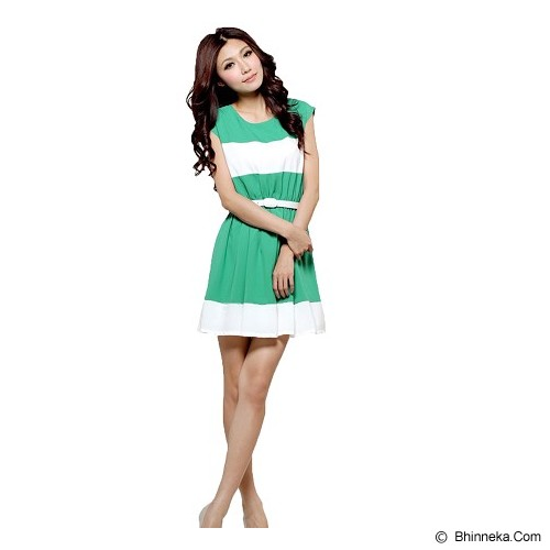 CECECICIKU HOUSE Dress Import Lengan Buntung Belt [CD-252] - Hijau - Mini Dress Wanita
