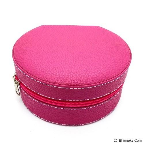 CENTRAL KERAJINAN Kotak Box Perhiasan Kerang - Vinyl Pink - Jewelry Organizer