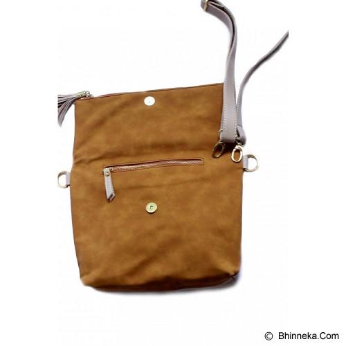 CEVIRO Avantin Sling Bag - Almond Brown - Cross-Body Bag Wanita