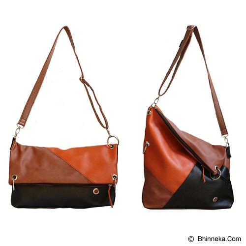 CEVIRO Hakebono - Brown Stone/Orange - Cross-Body Bag Wanita