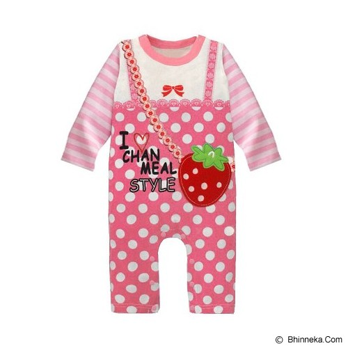 FIRST MOVEMENT Jumpsuit Strawberry Size 6-9M - Baju Bepergian/Pesta Bayi dan Anak