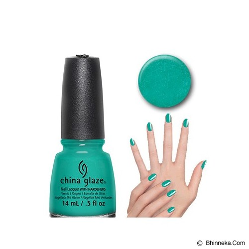 CHINA GLAZE Turned Up Turquoise - Cat Kuku