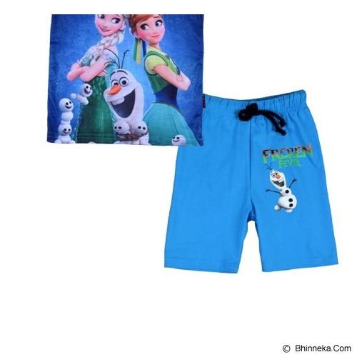 CHLOE'S CLOZETTE Piyama Frozen Fever Size 120 6Y [PJ-59] - Blue - Setelan / Set Bepergian/Pesta Bayi dan Anak