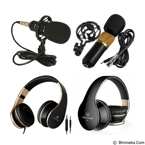 CHOKY RESISTOR EST.2016 Paket Microphone Bm700 and Headset Intone - Black Gold (Merchant) - Microphone Condenser