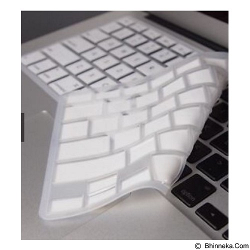 CITY COMP Silicone Keyboard Protector for Macbook - White (Merchant) - Keyboard Cover Protector