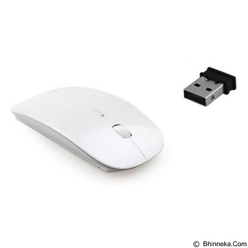 CITY COMP Ultra Slim Wireless Optical Mouse - White (Merchant) - Mouse Basic