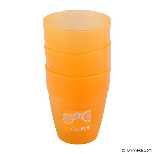 CLARIS Gelas Wave 350ml Set Of 3 - Orange - Gelas