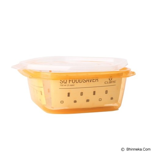 CLARIS Tempat Makanan FoodSaver Persegi 750ml - Orange - Lunch Box / Kotak Makan / Rantang