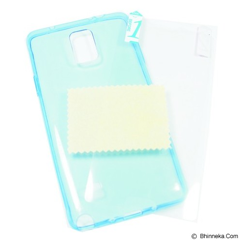 CLOVER Ultra Fit Air Soft Case Samsung Galaxy Note 4 Casing Cover Soft - Blue - Casing Handphone / Case