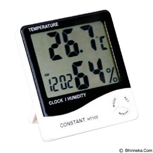 CONSTANT Temperature and Humidity Meter with Clock [HT100] - Alat Ukur Kelembaban