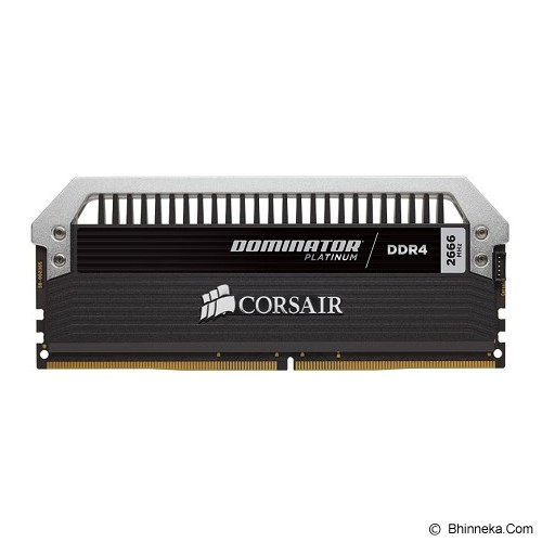 CORSAIR Dominator Platinum Series 2 x 8GB DDR4 PC4-21300 [Dominator Platinum CMD16GX4M2A2666C15] - Black - Memory Desktop DDR4