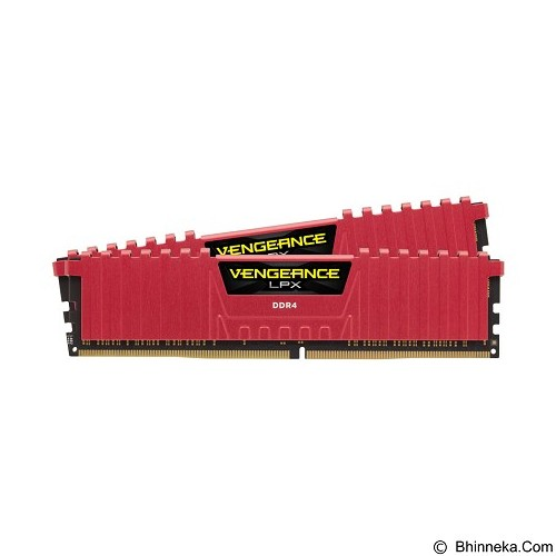 CORSAIR Memory PC 2 x 8GB DDR4 PC4-25600 [Vengeance LPX CMK16GX4M2B3200C16R] - Red - Memory Desktop Ddr4