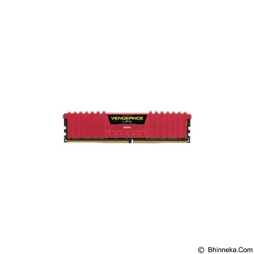 CORSAIR Memory PC 4GB DDR4 PC-19200 [Vengeance LPX CMK4GX4M1A2400C14R]  - Red - Memory Desktop Ddr4