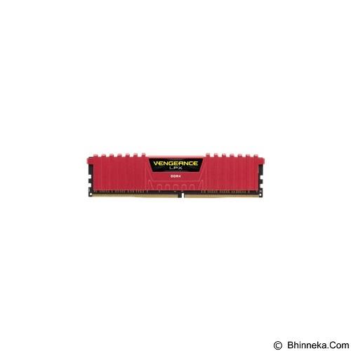 CORSAIR Memory PC 4GB DDR4 PC-19200 [Vengeance LPX CMK4GX4M1A2400C14R]  - Red - Memory Desktop Ddr4