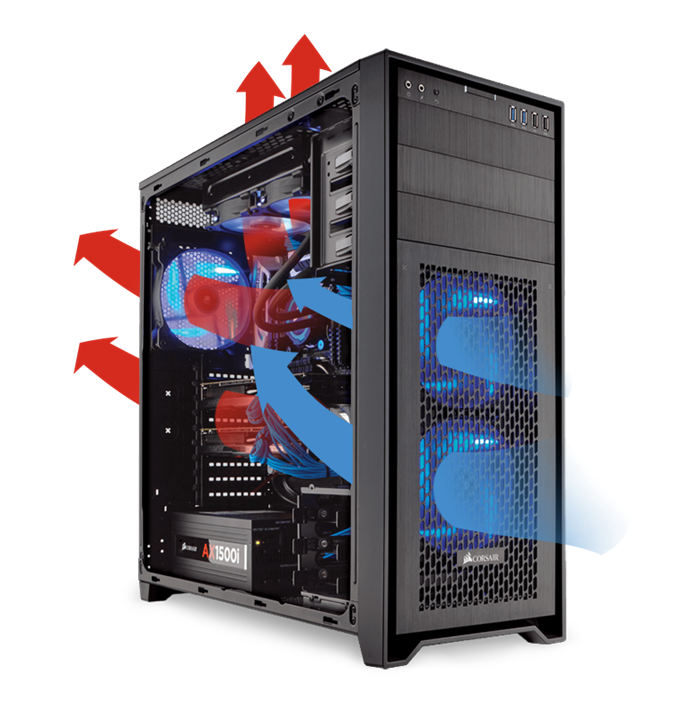 CORSAIR Obsidian 750D Airflow Edition - Computer Case Full Tower