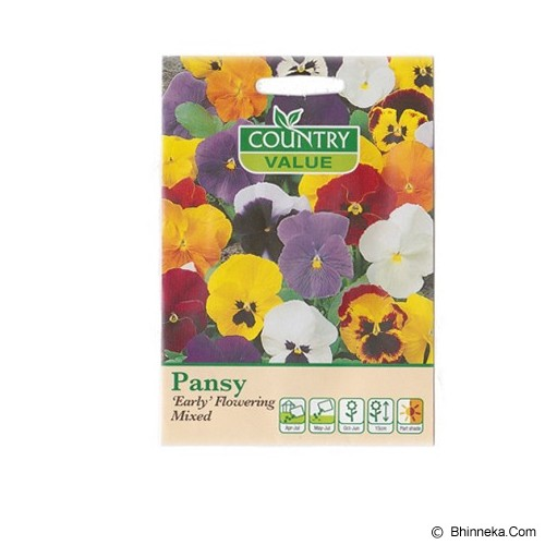COUNTRY VALUE Pansy 'Early' Flowering Mixed - Bibit / Benih Tanaman Hias