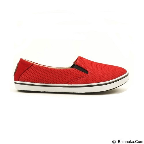 COUP D'ETAT Slip on Classic Red Mesh with White Sole Size 40 [SOM02] - Sneakers Wanita