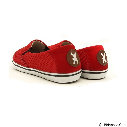 COUP D'ETAT Slip on Classic Red Mesh with White Sole Size 42 [SOM02] - Sneakers Wanita
