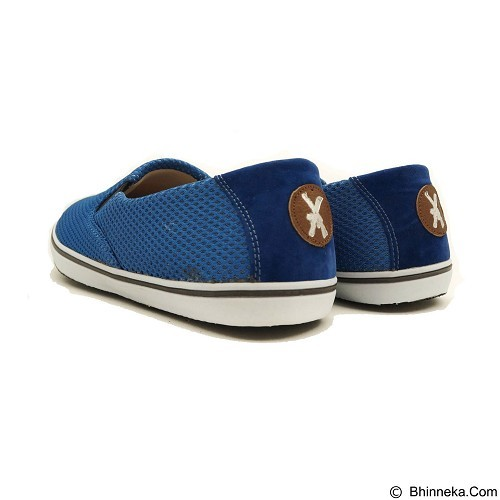 COUP D'ETAT Slip-on Classic Size 37 [SOW01] - Blue Mesh with White Sole - Loafer dan Slip On Wanita