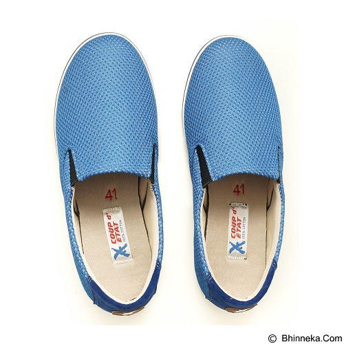 COUP D'ETAT Slip-on Classic Size 38 [SOW01] - Blue Mesh with White Sole - Loafer dan Slip On Wanita