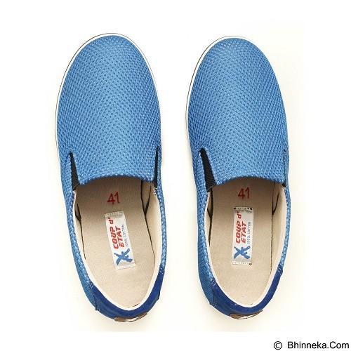 COUP D'ETAT Slip-on Classic Size 38 [SOW01] - Blue Mesh with White Sole - Loafer dan Slip On Wanita