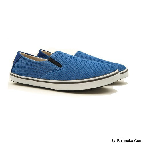 COUP D'ETAT Slip-on Classic Size 39 [SOW01] - Blue Mesh with White Sole - Loafer dan Slip On Wanita
