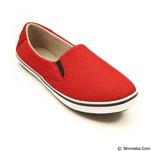 COUP D'ETAT Slip-on Classic Size 40 [SOW02] - Red Mesh with White Sole - Loafer dan Slip On Wanita