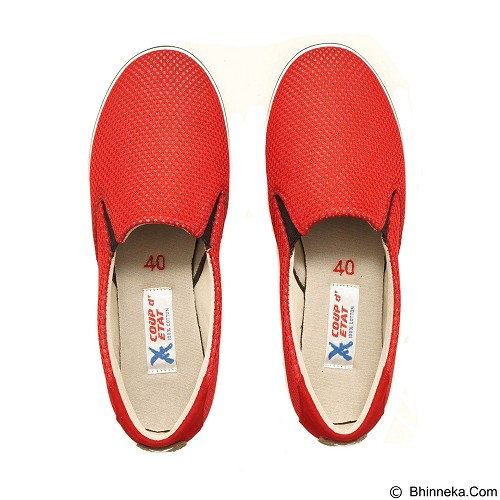 COUP D'ETAT Slip-on Classic Size 41 [SOW02] - Red Mesh with White Sole - Loafer dan Slip On Wanita