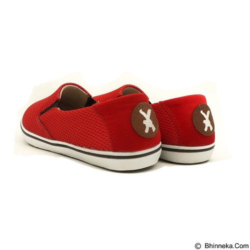 COUP D'ETAT Slip-on Classic Size 42 [SOW02] - Red Mesh with White Sole - Loafer dan Slip On Wanita
