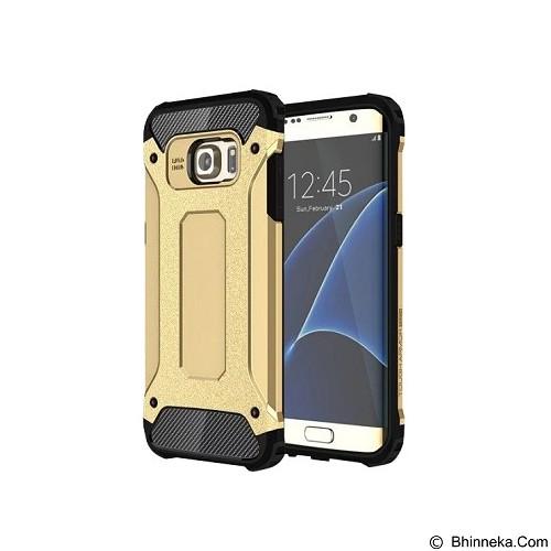 CREATIVE Case Armor Shockproof Galaxy S7 Edge - Gold (Merchant) - Casing Handphone / Case