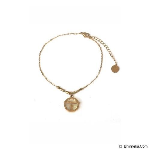 CUPCUPDIDA Doraemon Bell Gelang Kaki Lonceng Lapis Platina Rose Gold Plated - Gold  - Gelang / Bracelet