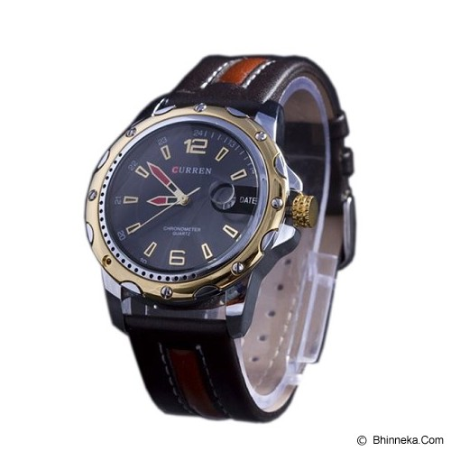 CURREN Casual Style Watch For Men [8104] - Gold Black - Jam Tangan Pria Casual