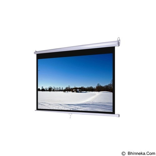D-LIGHT Manual Pull Down Wall Screen 60 inch [MWSDL1515L] - Proyektor Screen Manual Pull Down