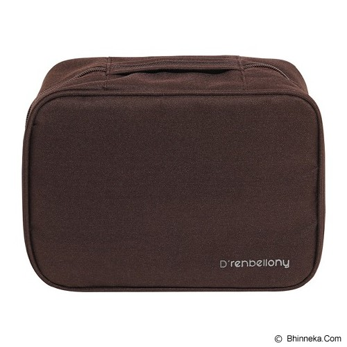 D'RENBELLONY Cosmetic Bag Organizer - Brown - Tas Kosmetik / Make Up Bag