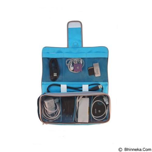 D'RENBELLONY Gadget Chargers Organizer Light - Blue - Travel Bag