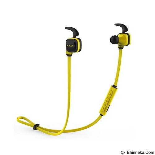 DACOM Wireless Headphones with Mic Sport Running Stereo Bass Noise Cancelling [CCK KS] - Yellow (Merchant) - Headset Bluetooth