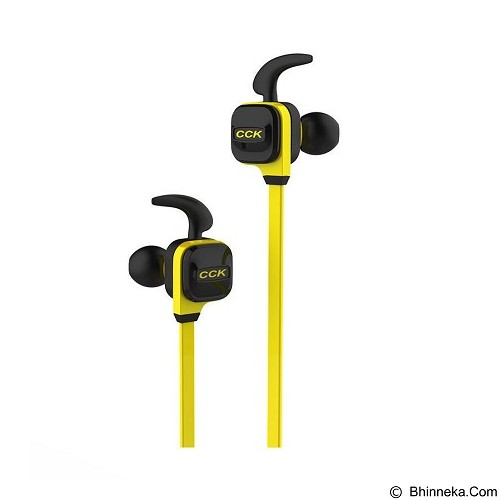 DACOM Wireless Headphones with Mic Sport Running Stereo Bass Noise Cancelling [CCK KS] - Yellow (Merchant) - Headset Bluetooth