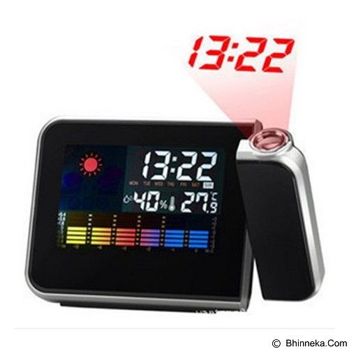 DAIKAZERA SHOP Digital LED Light Weather Projector Clock [JK-393] (Merchant) - Jam Meja