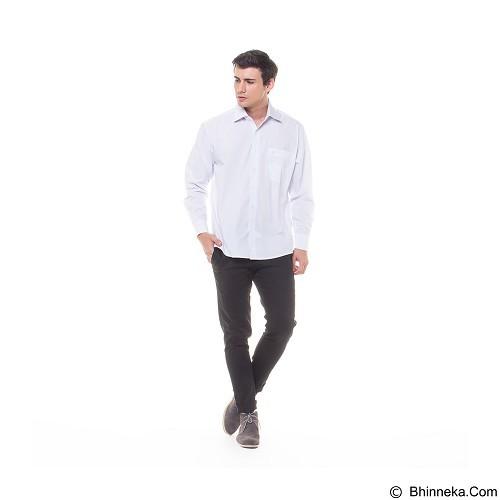 DAMON Kemeja Tangan Panjang Polos Size 15½ [H41752] - White (Merchant) - Kemeja Lengan Panjang Pria