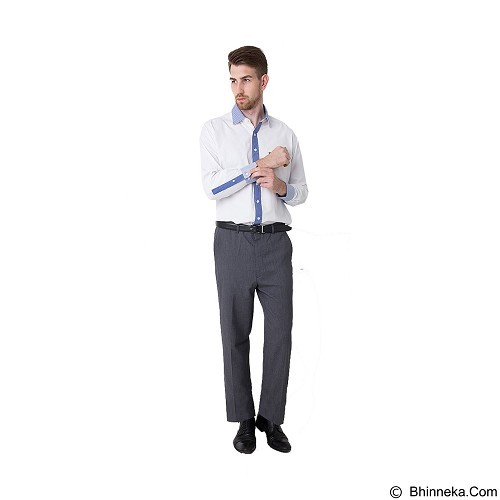 DAMON Kemeja Tangan Panjang Polos Size 16½ [141650] - White Combination (Merchant) - Kemeja Lengan Panjang Pria