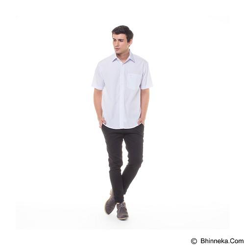 DAMON Kemeja Tangan Pendek Polos Size 16½ [H11753] - White (Merchant) - Kemeja Lengan Pendek Pria